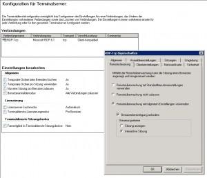 Terminalserverkonfiguration