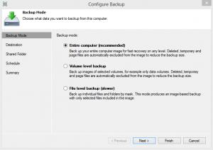 Configure Backup 1
