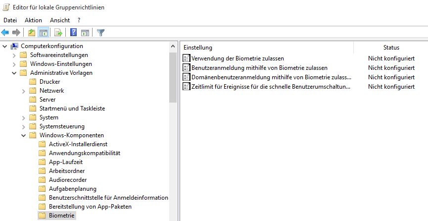 fingerscanner aktivieren windows 10 lenovo