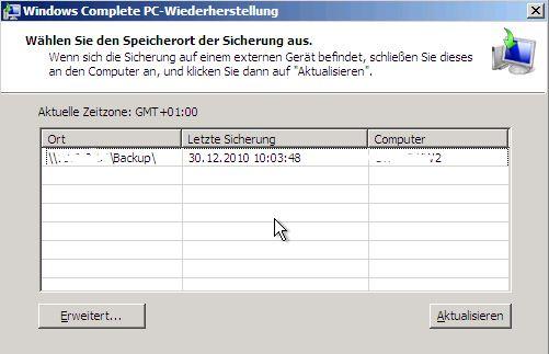 sicherung windows 10 auf externe festplatte