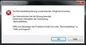 Trennung der Remotedesktopsitzung