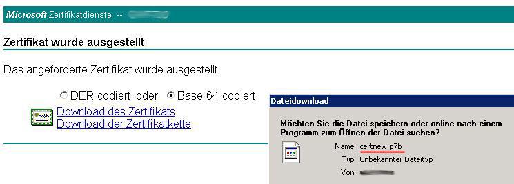 ILO Board und HP System Management Homepage mit Zertifikaten einer ...