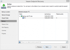 Veeam Endpoint Recovery 1