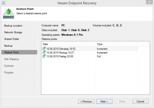 Veeam Endpoint Recovery 2