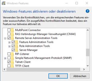 Windows Funktionen: RSAT
