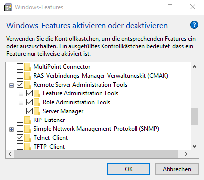 Probleme mit der installation der remote server for Probleme ouverture fenetre internet explorer