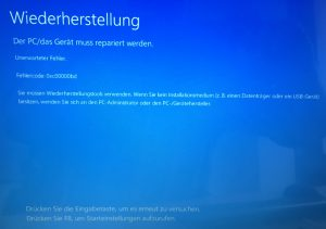 BSOD Windows 10 1607 Update