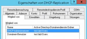 DHCP-Dienstkonto